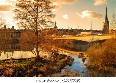 A pretty shot of Perth in Scotland