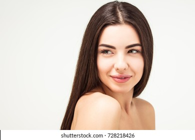 Pretty  Spa girl,Fresh and clean,healthy hair and skin, Seductive woman, skincare and cosmetology and dermatology,concept, rejuvenation therapy and treatment