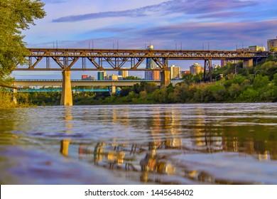 A Pretty Summer River Valley Scene
