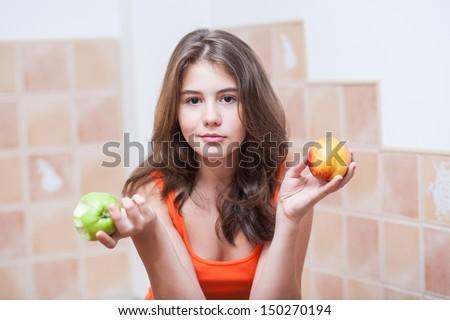 pretty teen model peach