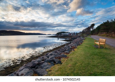 The pretty village of Shieldaig near Applecross in Wester Ross in the Northwest Highlands of Scotland and part of the popular NC500 coastal tourist route