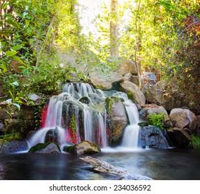 pretty waterfalls (slow shutterspeed for cascading water softening)