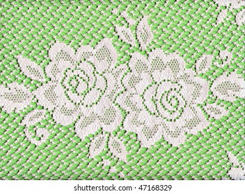 Pretty White Lace Roses