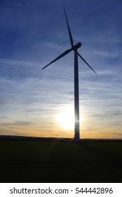 pretty wind turbine