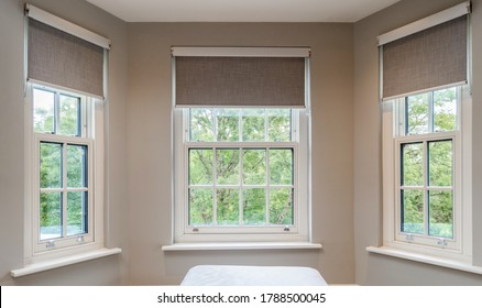 pretty windows with blinds in a house