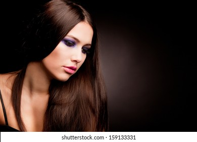 Pretty woman with long hairs.