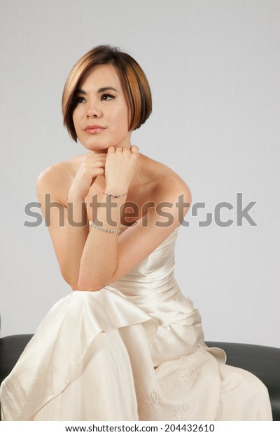 Pretty Woman Short Hair Wearing Formal Stock Photo Edit Now 204432610