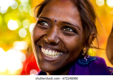Pretty woman from a small village in India