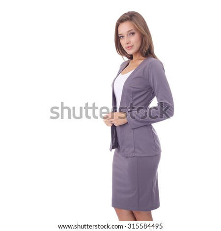 sale retailer 2b81f 78c4f pretty young girl wearing office skirt and jacket