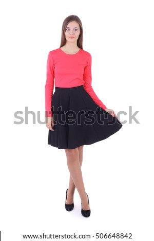 7cac6193101b65 Pretty Young Girl Wearing Red Top Stock Photo (Edit Now) 506648842 ...