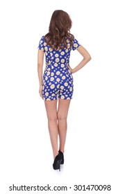 pretty young girl wearing summer dress