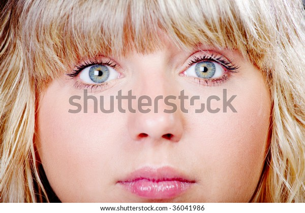 Pretty Young Girls Face Closeup Regular Stock Photo Edit Now 36041986