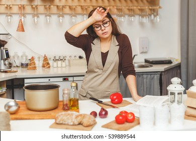 Image result for cooking lady tired