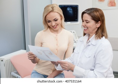 Pretty young lady is visiting general practitioner