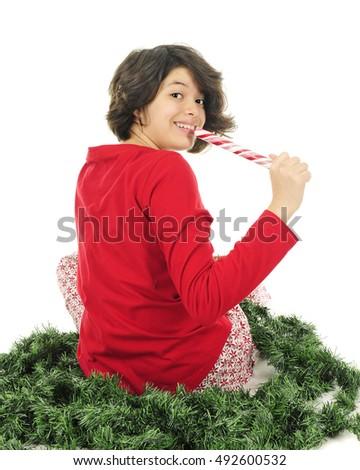Teen in pajamas