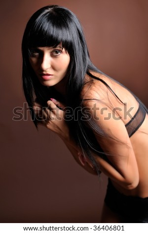 f0280a6733481 Pretty Young Woman Bathing Suit Stock Photo (Edit Now) 36406801 ...