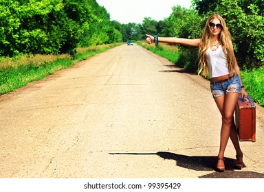 female hitchhiker sexy