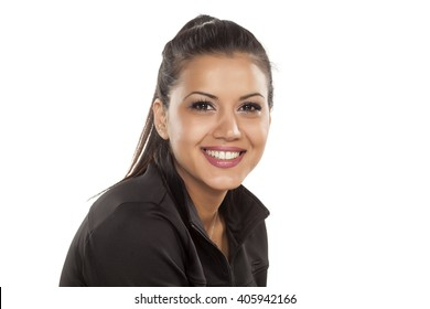 pretty young woman with a nice smile