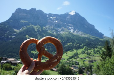 Pretzel and Eiger mountains in Switzerland