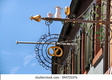 A Pretzel restaurant in Miltenberg, Bavaria, Germany