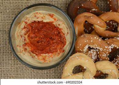 Pretzels and Hummus 3