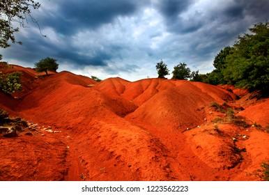 "PREVEZA PREFECTURE, EPIRUS, GREECE. The spectacular landscape in ""Kokkinopilos"" (literally ""Red Clay"") area."