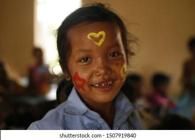 Preyveng Cambodia, Oct 2017, Students in Cambodia