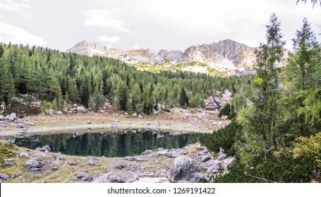 Koča pri Triglavskih jezerih, Dolina Sedmerih jezer, Triglav National Park, Slovenia - Shutterstock ID 1269191422