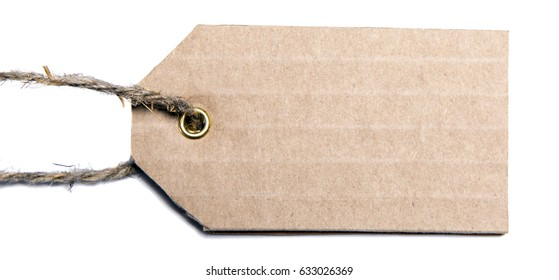Price tag isolated on white background
