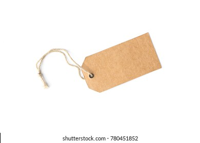 price tag isolated on white background.