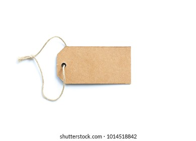 price tag or label with thread isolated white background.