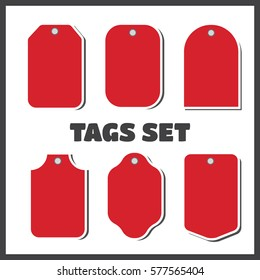 Price tags and gift cards. tags sale set