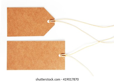 Price tags isolated on a white background,This has a clipping path.