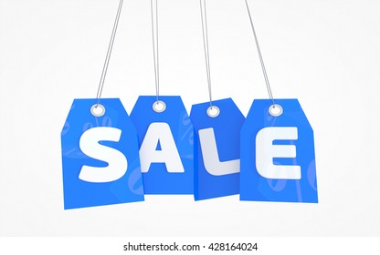 Price tags labels text sale. 3D rendered red SALE tag icon isolated on white background.