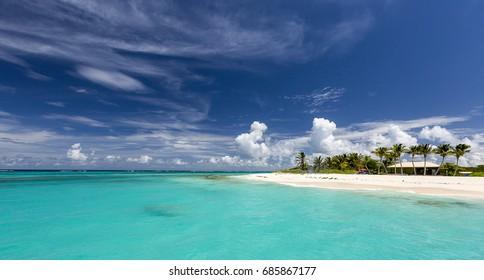 Prickly Island in Anguilla Beach, Caribbean