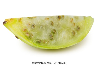 Prickly pears, opuntia, indian fig isolated on white background with clipping path