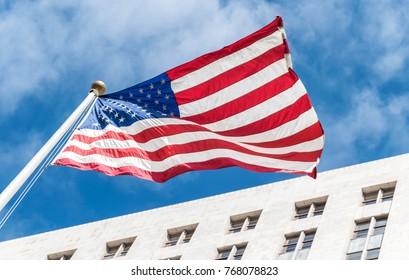 Pride of America. National American flag