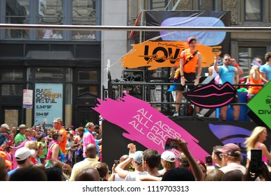 PRIDE IN NEW YORK CITY - June 24 2018 - LGBTQ+ March, Parade In Manhattan, America