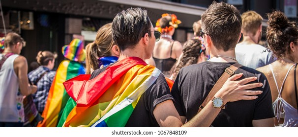 Pride parade march