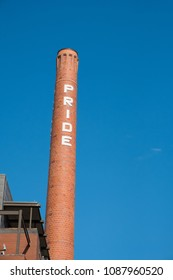 Pride silo in the pearl distrcit brewery blocks in San Antonio Texas.