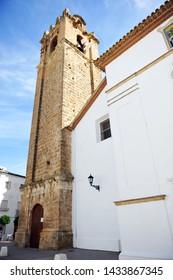 Priego, Spain - Nov 1, 2014: Church of the Assumption (Iglesia de la Asuncion) in Priego de Cordoba, province of Cordoba Andalusia Spain