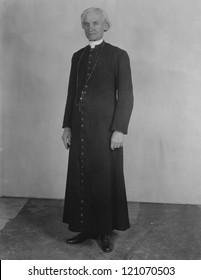 Priest in cassock