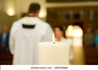 Priest during a wedding ceremony