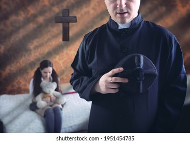 priest and a young in the parish  - Shutterstock ID 1951454785