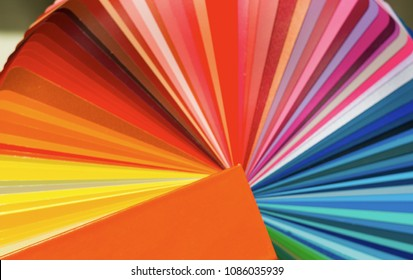 primary colors sample paint brushes have a wooden background paint