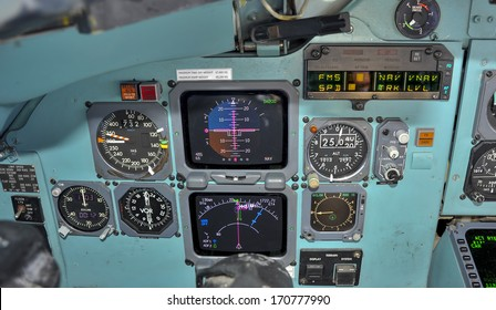 Primary flight instruments in flight