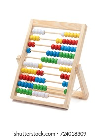 Primary School Abacus for Kids to Learn the basics of Counting and Math, Isolated on White