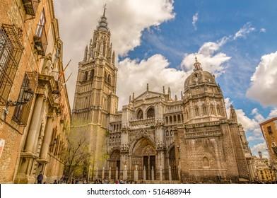 Die Primat-Kathedrale von Saint Mary von Toledo, hohe gotische Kathedrale von Toledo, Spanien