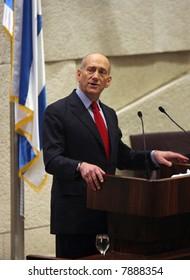 Prime minister of Israel Ehud Olmert.