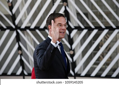 Prime minister Mark Rutte arrives for a summit of European Union (EU) leaders in Brussels, Belgium on Apr. 29, 2017